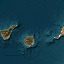 Kanaren Inseln Karte.Karte Kartografie Kanarische Inseln Canary Islands