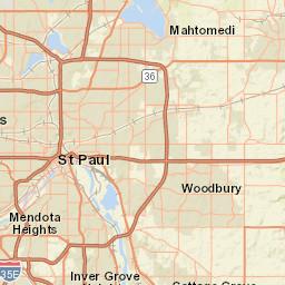 Traffic Exposure Map Mnph Data Access Mn Dept Of Health