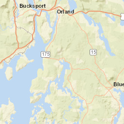 Usgs Site Map For Usgs 01037380 Ducktrap River Near Lincolnville Maine