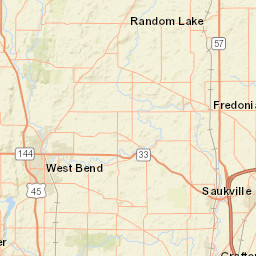 USGS Site Map for USGS 04087050 LITTLE MENOMONEE RIVER NEAR
