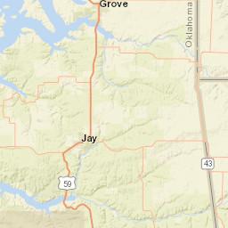 Grove Oklahoma Map.Usgs Site Map For Usgs 07192100 Spring Creek Near Locust Grove Ok