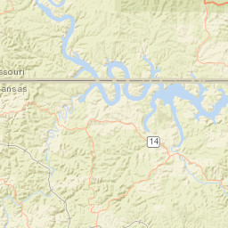 USGS Site Map for USGS 07055565 Crooked Creek at Harrison, AR