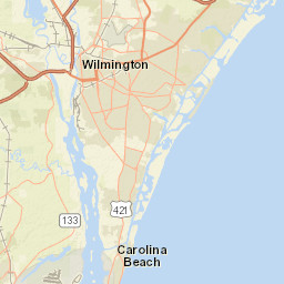 Usgs Site Map For Usgs 02093206 Intracoastal Wtrwy At Nc Hwy50 210
