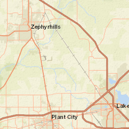 USGS -- Groundwater Watch Zephyrhills Florida Map on