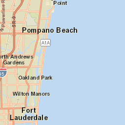 Map Of Pompano Beach Florida.Planning And Zoning