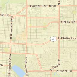 City Bike Maps Colorado Springs