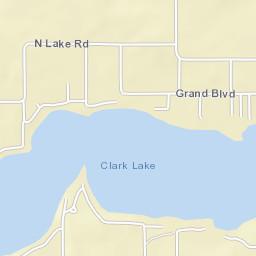Clark Lake Michigan Map.Jackson County Mi