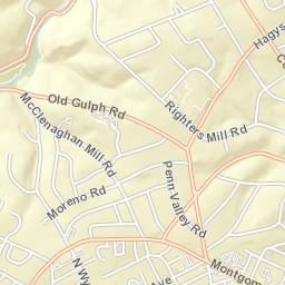 Maps Narberth Borough - Philadelphia university map