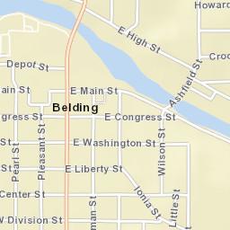 Belding Michigan Map.Usps Com Location Details