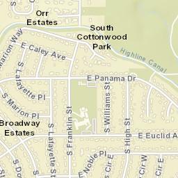 Centennial Colorado Zip Code Map.Usps Com Location Details