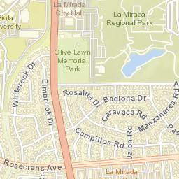 La Mirada Zip Code Map.Usps Com Location Details