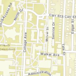 Greensboro College Campus Map.Campus Maps The University Of North Carolina At Greensboro Uncg