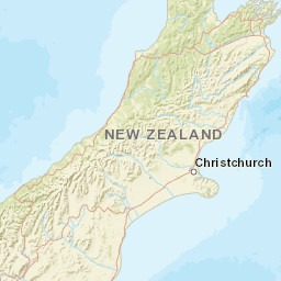 Where Is Christchurch New Zealand On The Map.Online Camping And Travel Map New Zealand