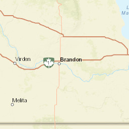 North Dakota Travel Information Map