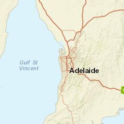 Map Adelaide Australia.Magnetic Declination In Adelaide Australia