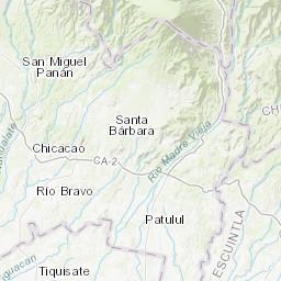Rio Bravo Mapa Fisico.Mapa Topografico Da Solola Terreno Relevo Fisico Mapa