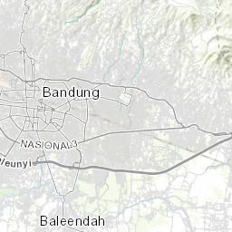 Administrative Boundaries, Bandung, Indonesia, 1990