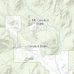 Gunnison County Colorado Map.Geologic Map Of The Crested Butte Quadrangle Gunnison County Colorado