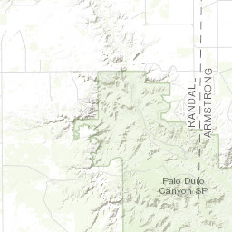 Palo Duro Canyon Texas Map Interactive Map of Palo Duro Canyon State Park Trails