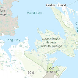 Refuge Map Cedar Island U S Fish And Wildlife Service