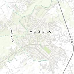Rio Grande Mapa Fisico.Mapa Topografico Da Rio Grande Terreno Relevo Fisico