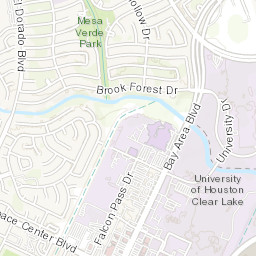 Map of University of Houston Clear Lake