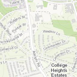 UMD Campus Map