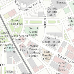 Detroit People Mover Route: Michigan, United States - Big Ten ... on
