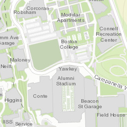 Campus Map Facilities Management Boston College