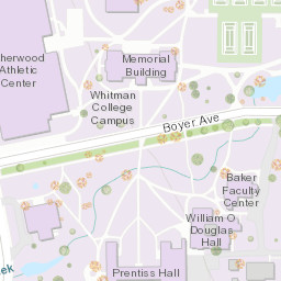 Whitman College Tree Map