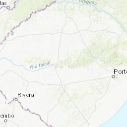 Rio Grande Mapa Fisico.Mapa Topografico Da Rio Grande Do Sul Terreno Relevo