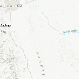 Geographic map of the Al Muwayh quadrangle, sheet 22E