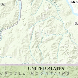 Geologic Map Of Parts Of The Yaak River Area Lincoln County