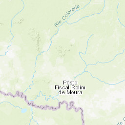 Rio Colorado Mapa Fisico.Mapa Topografico Da Rolim De Moura Do Guapore Terreno
